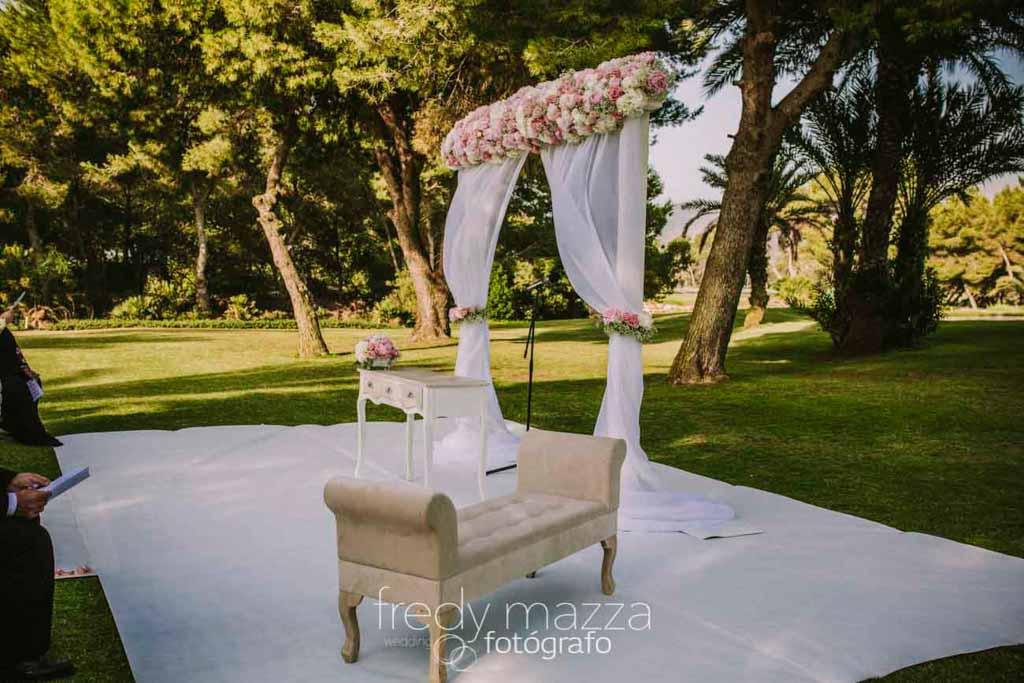 wedding flowers at Principe Felipe La Manga